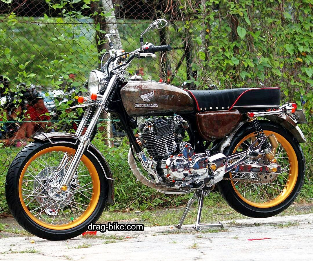 Gambar modifikasi motor cb 100 simple  Vehicles