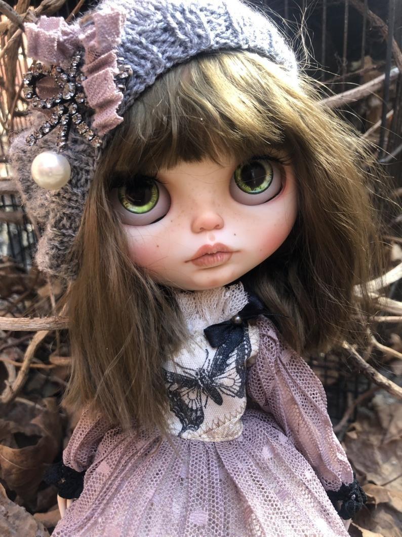 Saaale-Gloria-ooak custom blythe doll by me-weft mohair #dollcare