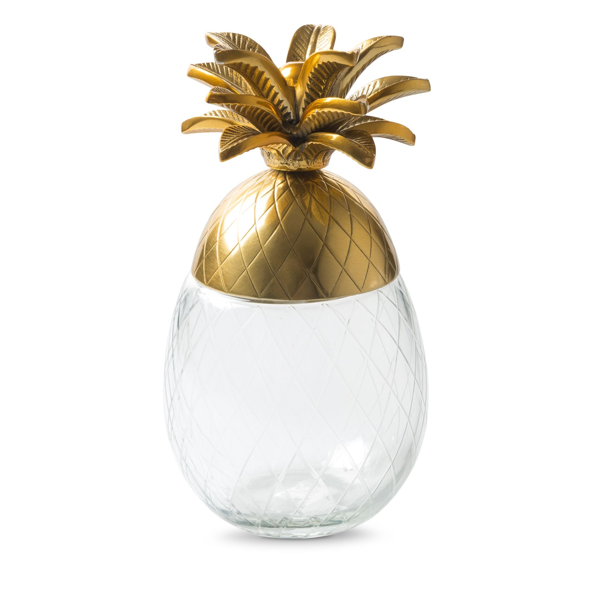 Pineapple Gold & Glass Storage Box Gold glass, Glass