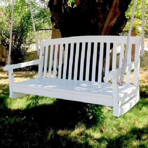 Incredible Wooden Porch Swing Outdoor Hanging Seat Bench Slated Curved Alphanode Cool Chair Designs And Ideas Alphanodeonline
