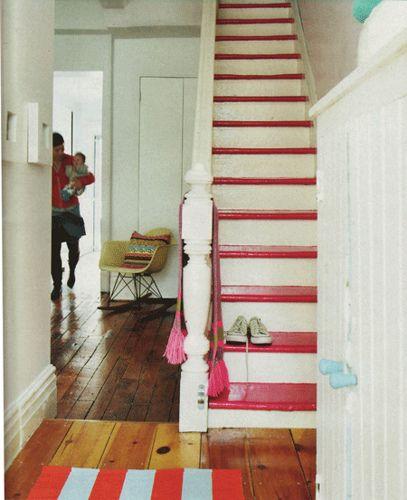 pink stairs by poppytalk, via Flickr