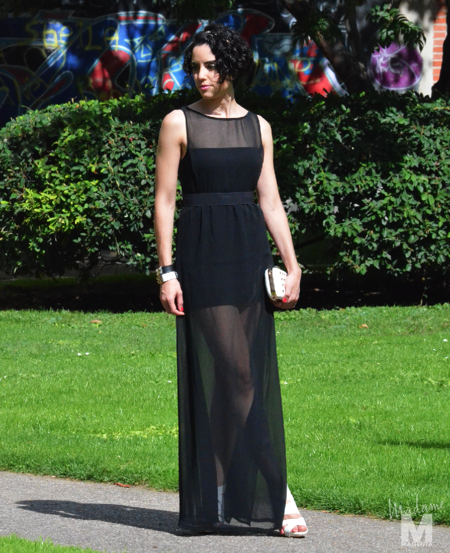 Vestido negro largo para el dia
