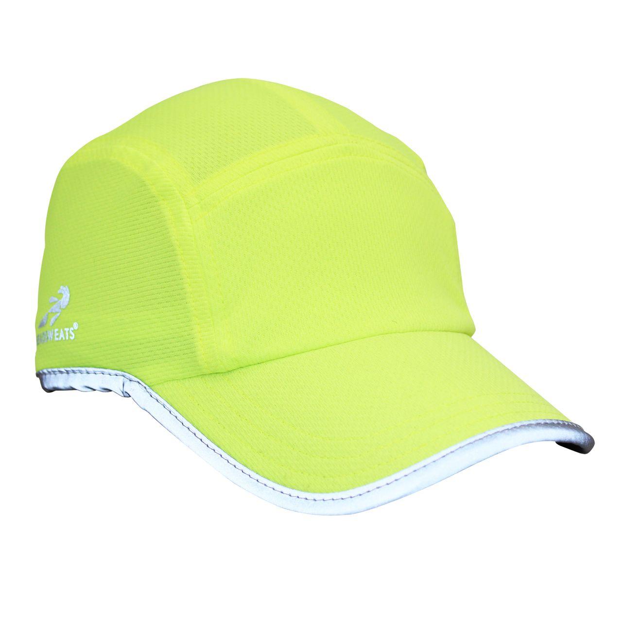 Headsweats - Race Hat - Hi Vis Yellow w/ Reflective Piping, $22.00 (http://www.headsweats.com/race-hat-hi-vis-yellow-w-reflective-piping/)
