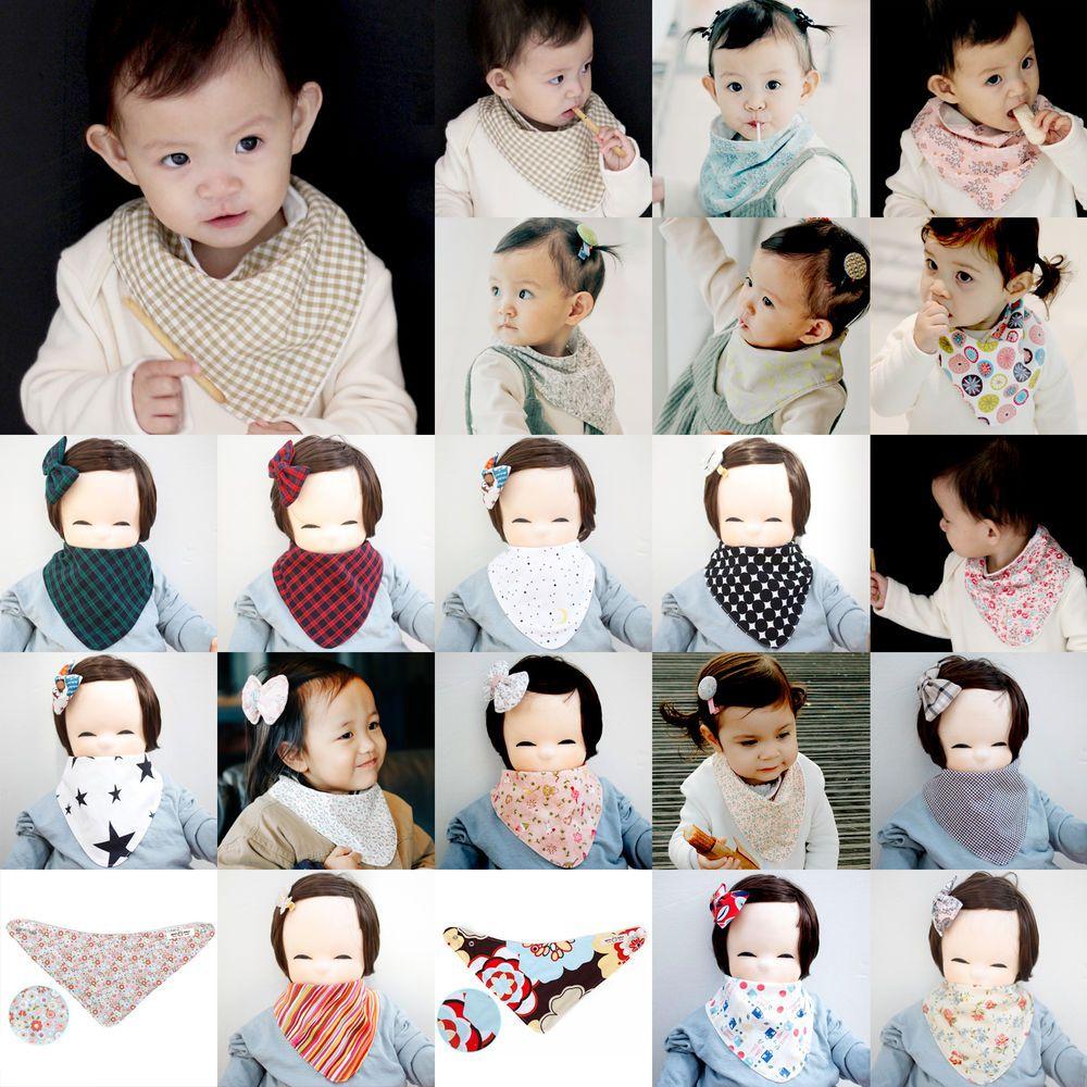 Cute Newborn Baby Scarf Bib Girl Boy Unisex Cotton Infant Toddler Handmade Eb95