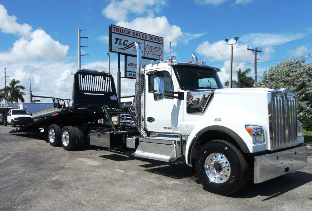 2020 Kenworth W990 Jerrdan 28ft 15 Ton Rollback Tandem Axle