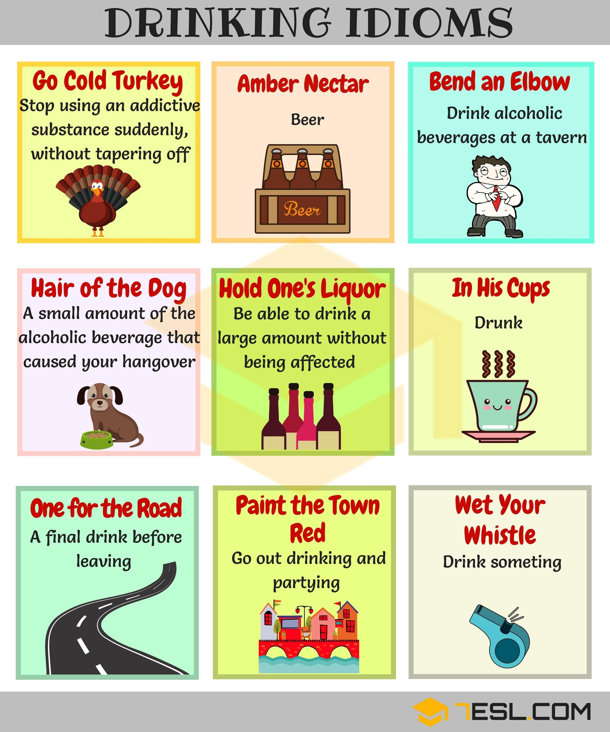15 Useful Drinking Idioms Phrases And Sayings