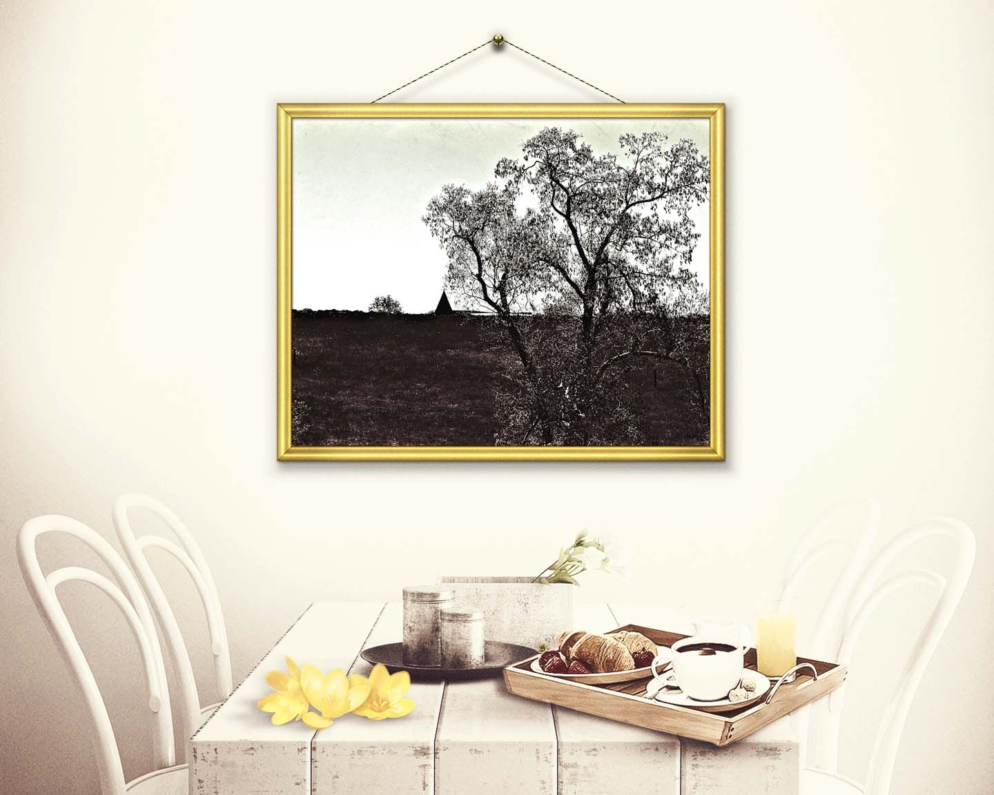 Decorative wall art over the horizon the twilight collection