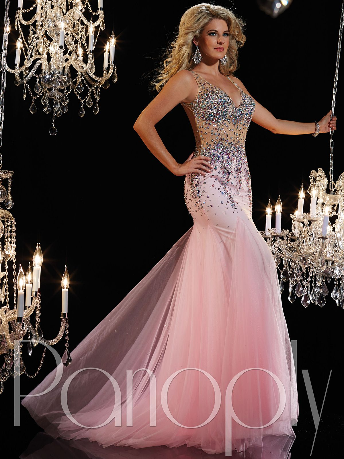 Glide through the stage in this ravishing sleeveless pageant dress ...