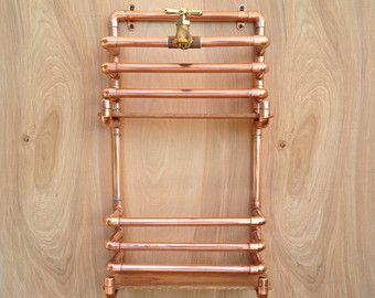 Copper Pipe Jewelry Tree Modern Jewelry Organizer Steampunk Design