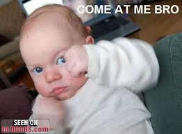 I M Scared Baby Very Scared Funny Baby Pictures Funny Babies Baby Memes