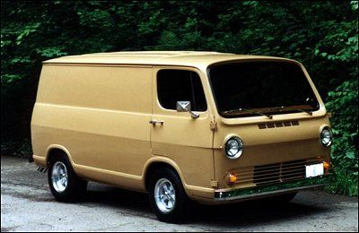 This First Gen Chevy Is A No Door Meaning It Was Ordered Without The Typical Side Doors On The Rear Flank Still Has Back Doors Of Vintage Vans Van Chevy Van