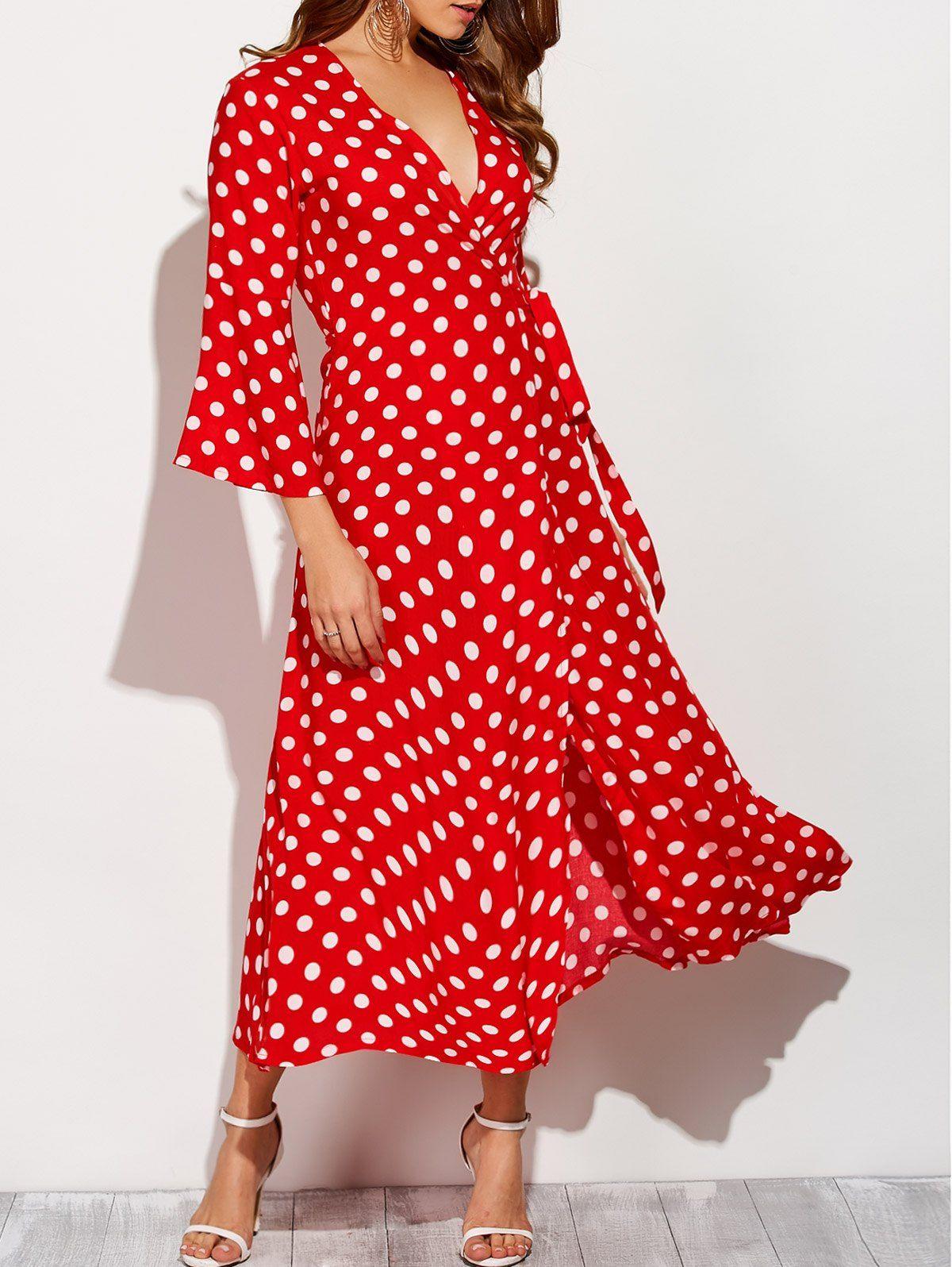 19+ Red and white polka dot dress info
