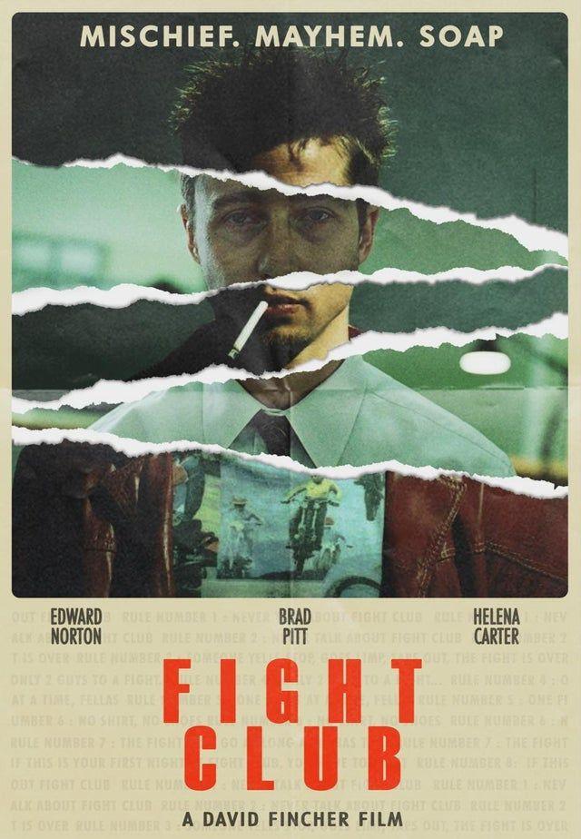Fight Club (1999) [935 × 1350] by Saajan