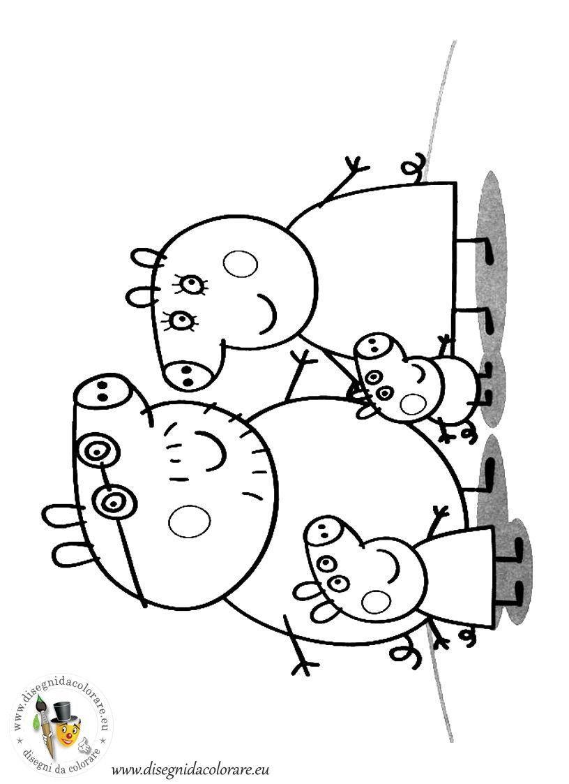 Torta De Peppa Pig Peppapig In 2020 Peppa Pig Familie Kinder Malbuch Disney Malvorlagen