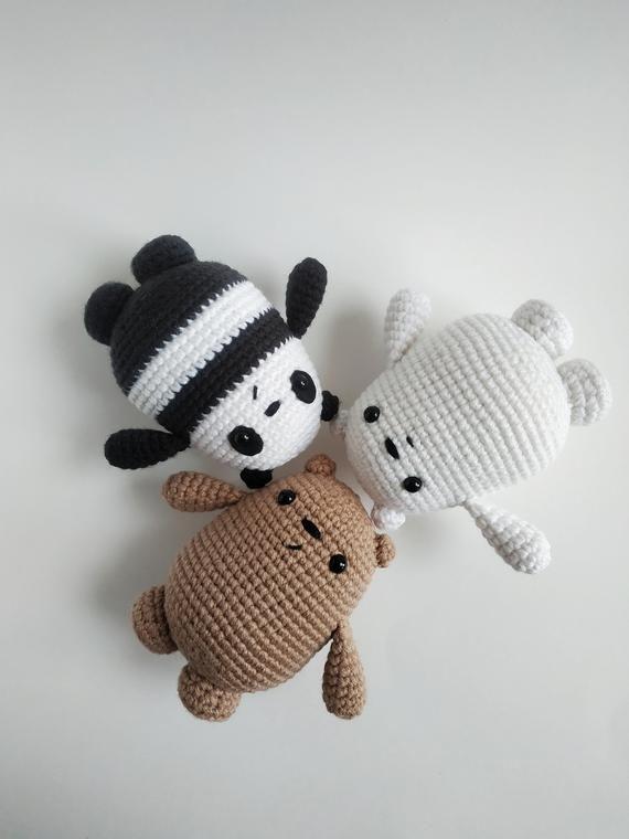 PDF PATTERN : We Bare Bears Pattern, We Bare Bears Amigurumi, Crochet Pattern