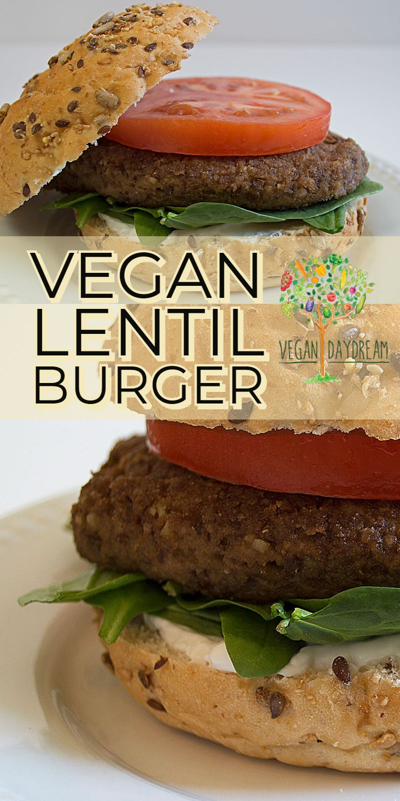 These Easy Lentil Burgers Are A Great Way To Enjoy A Sunny Day In The Back Yard Or A Family Nigh Lentil Burger Recipe Vegan Vegan Lentil Burger Lentil Burgers