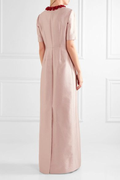 Embellished Wool And Silk-blend Gown - Antique rose Prada BYBjF