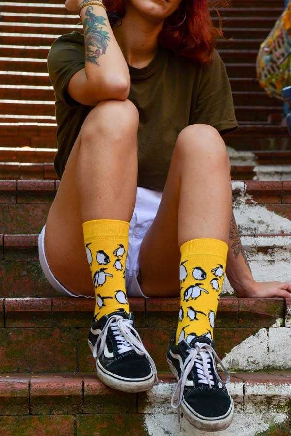 Photo of Yellow Penguin Socks