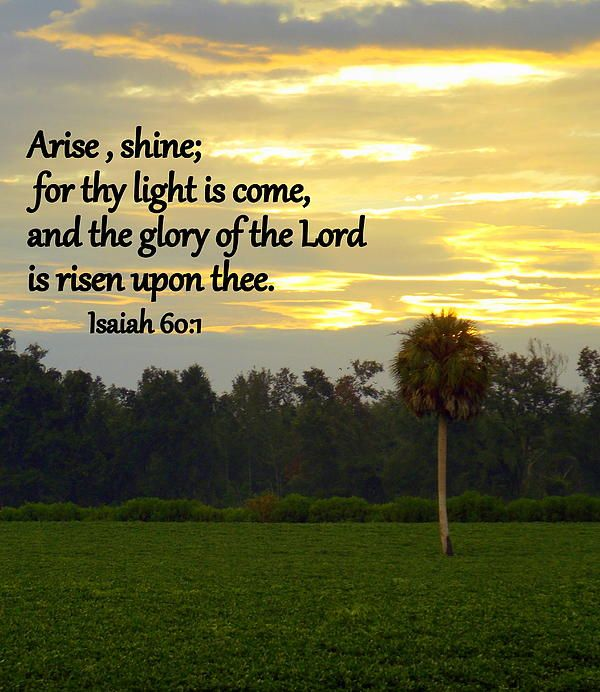 Isaiah 60:1 with Planted Field and Sunrise Print, framed print ...