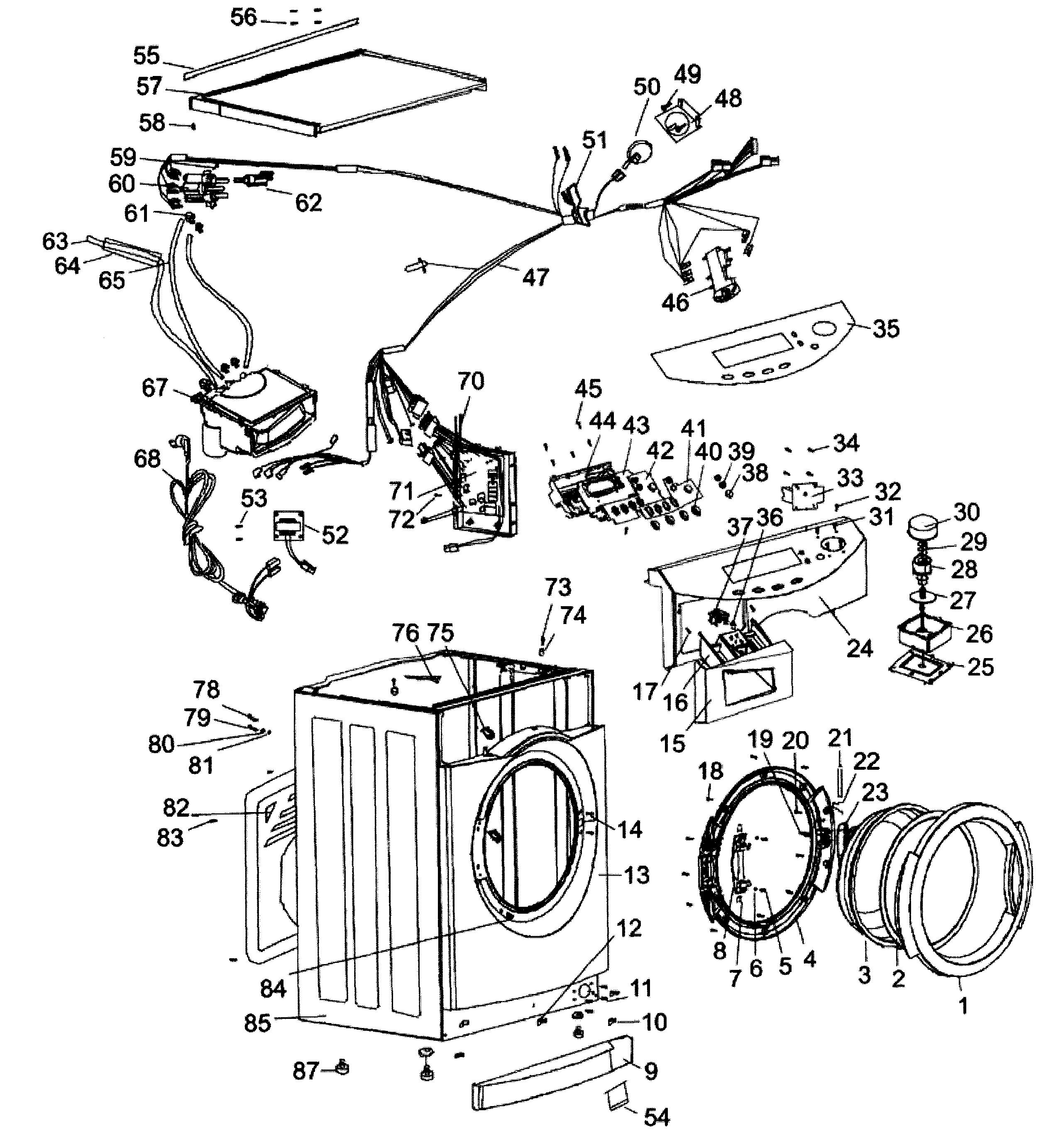 Haier Washer/dryer Parts Washer and dryer, Washer dryer