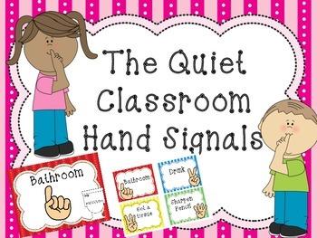 Marvelous The Quiet Classroom Hand Signal Poster Set My Kindergarten Download Free Architecture Designs Scobabritishbridgeorg