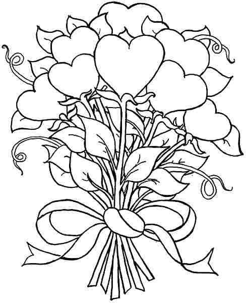 pattern | Heart coloring pages, Rose coloring pages ...