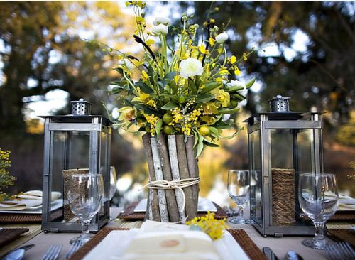 Low cost wedding ideas centerpieces ideas that i want to share rustic wedding centerpieces ideas wood branch vase with flower bouquet and lanterns unique wedding ideas and rustic wedding centerpieces junglespirit Image collections