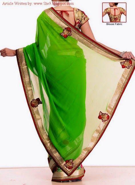 Newest Saree and Blouse Styles – Ideal Blouse Back Neckline Designs - FASHIONPAB | FASHIONPAB