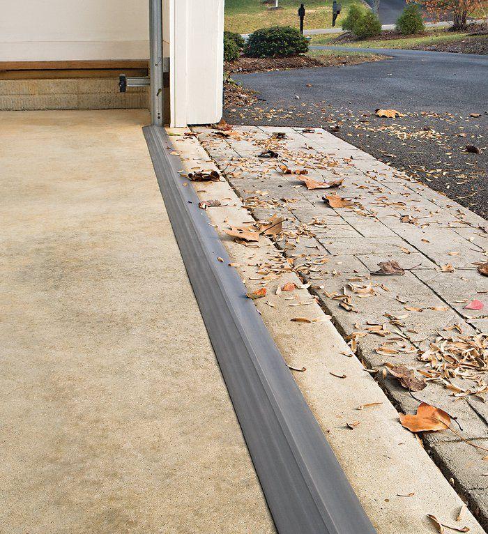 New Garage Flooring: For Our New Door -- Garage Door Threshold Shield