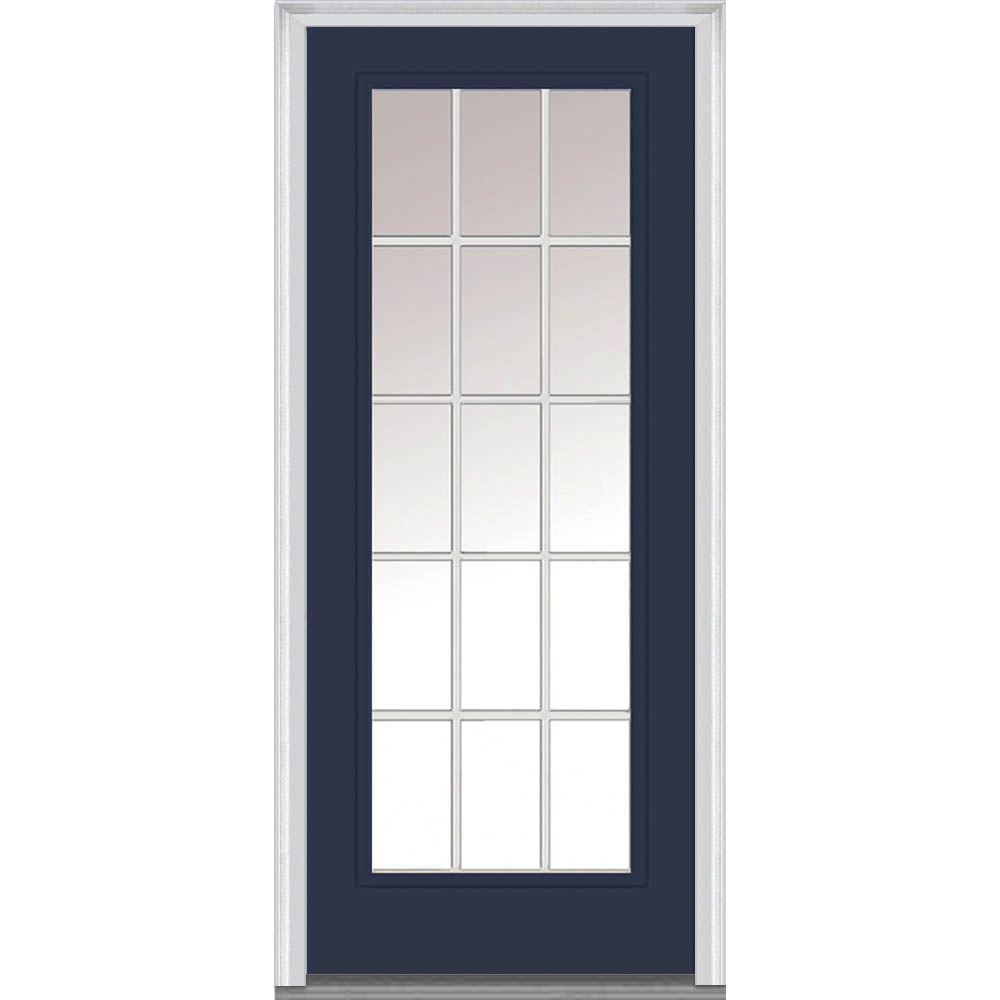 MMI Door 30 in. x 80 in. Grilles Between Glass Right-Hand Inswing ...