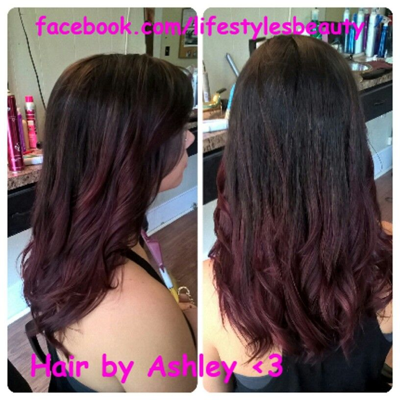 I Love This Fall Ombre I Did On Olivia I Used Kenra Color 3n As Her