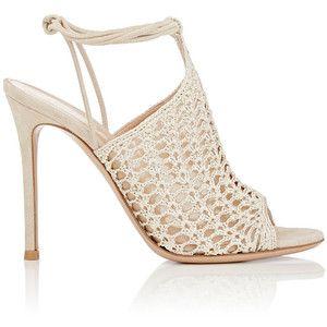 Gianvito Rossi Women's Crochet Ankle-Tie Sandals