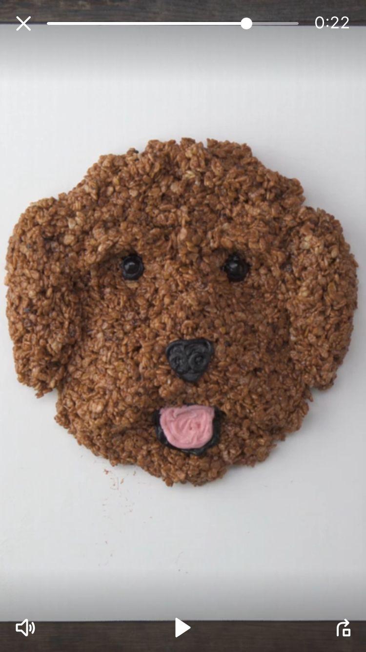 Rice Crispy treat dog