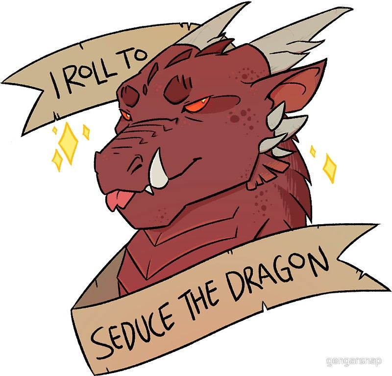I Roll to Seduce the Dragon | Sticker | Dragons | Dragon, Stickers