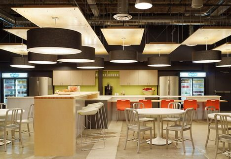 70 Creative and Inspiring Office Designs of Top Internet and Technology Companies | Commercial interior design, Office lighting design, Office interiors