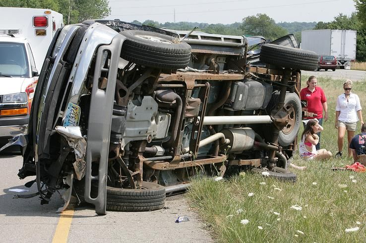 A rollover accident on state Route 21 just north of the Massillon