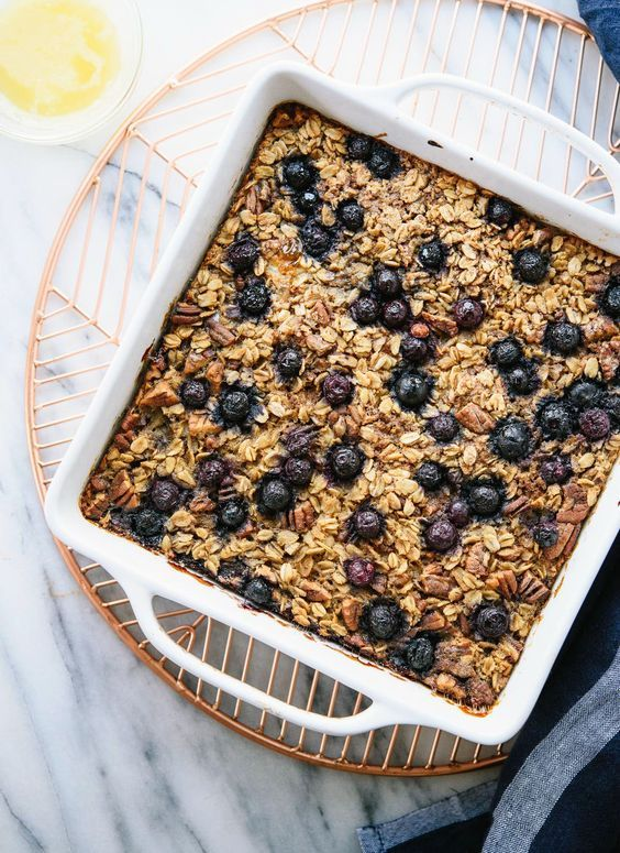 Baked Oatmeal Recipe With Blueberries Cookie And Kate Recipe Baked Oatmeal Recipe With Blueberries Blueberry Recipes Baked Oatmeal Healthy