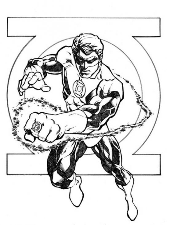 Green Lantern Coloring Page Superheroes