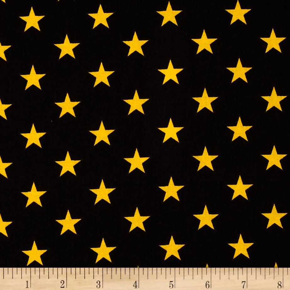 ed564aa18ff All Stars Black/Yellow from @fabricdotcom This cotton print fabric is  perfect for quilting and craft projects. Colors include an allover yellow  star print ...