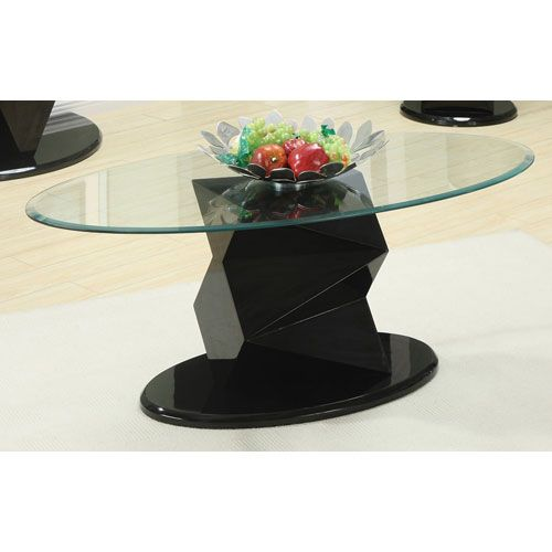 217 23.5 x 47   Oval Glass Top Coffee Table Coaster Cocktail/Coffee Tables Accent Tables Living Room Furni