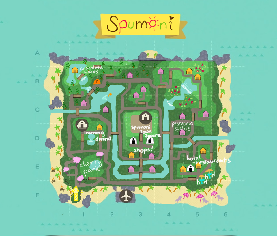 Spumoni Island Horizondesigns In 2020 Animal Crossing Qr