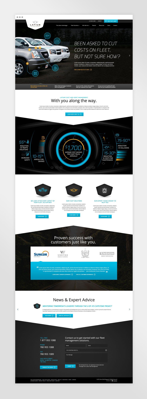 Latium Fleet Management Website Design And Development Natasia Designs An Illustrator Graph Web Design Websites Web Design Services Website Design Services