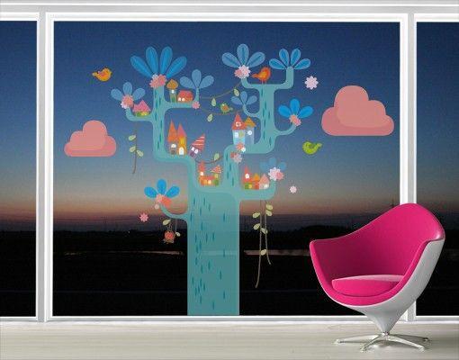 Fensterfolie Fenstersticker No Ek153 Spielbaum Fensterbilder