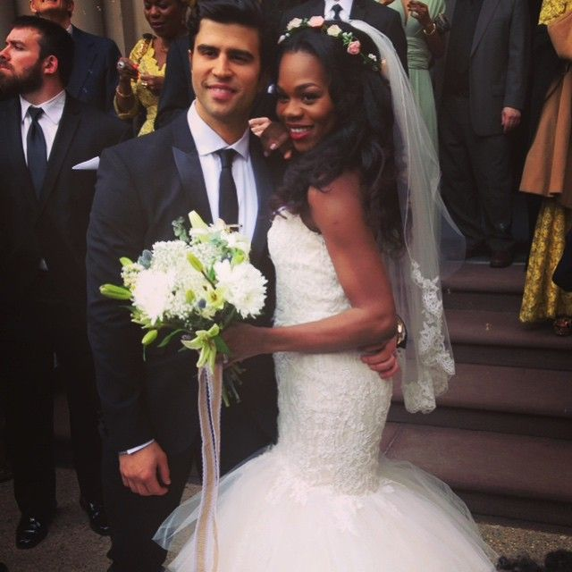 Beautiful Interracial Couple On Their Wedding Day #love