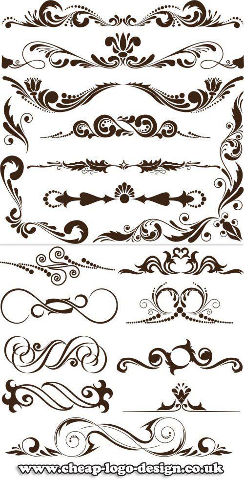 Calligraphy Swirl Graphics For Use With Ornate Logos Cheap Logo Designcouk Ornatelogo Logocreation