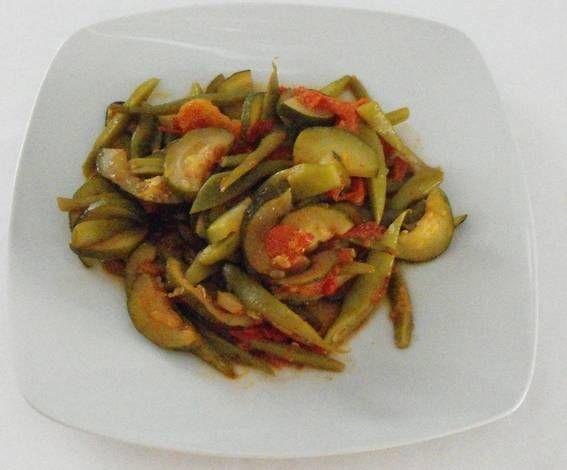 Verduras salteadas en wok