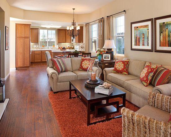 Living Room Burnt Orange Couch Design Pictures Remodel Decor