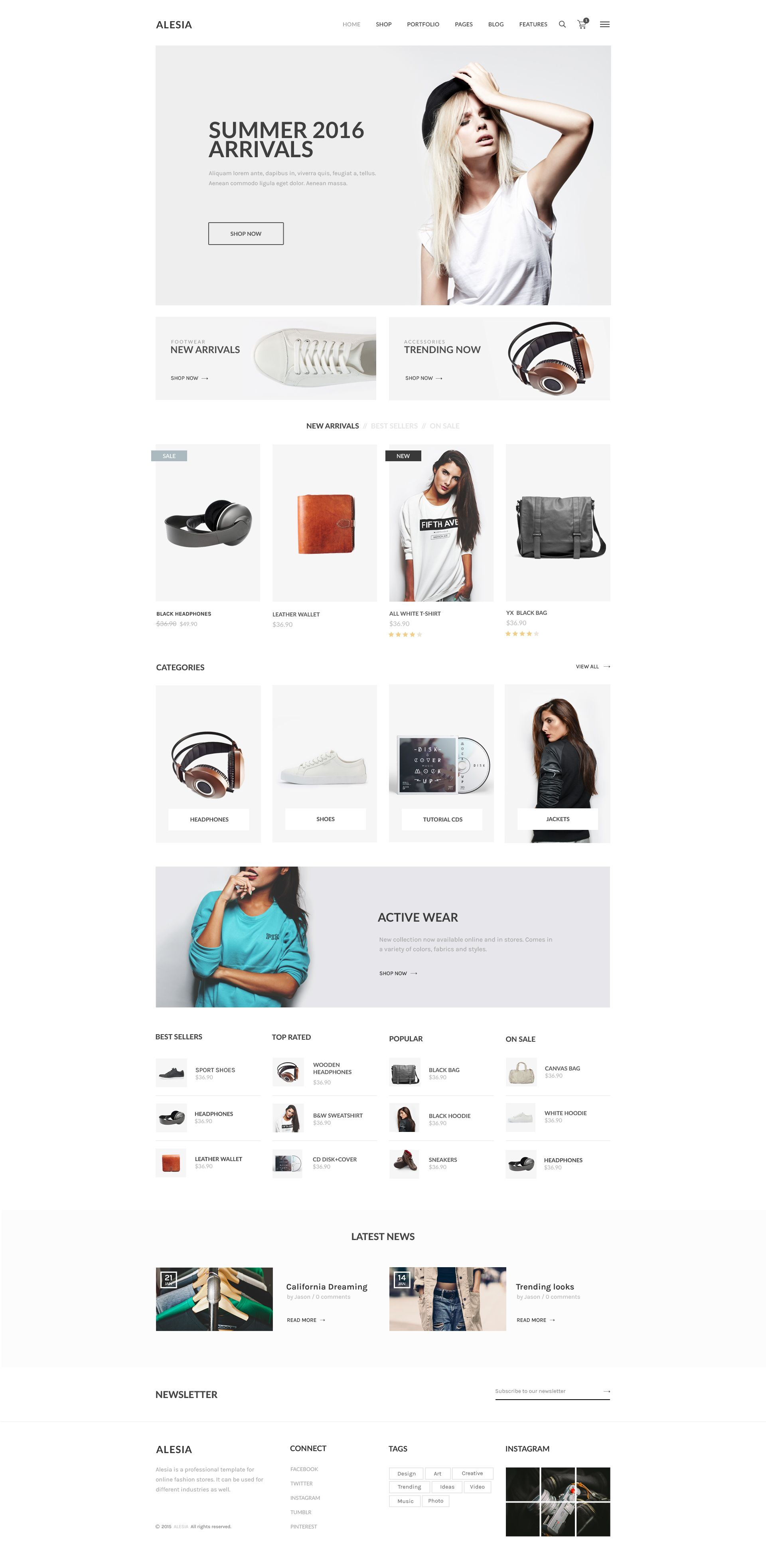 ALESIA – ecommerce theme for online fashion stores. Clean, Modern and  Professional design.