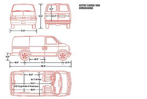 Astro Van Dimensions Google Search Astro Van Astro Chevrolet