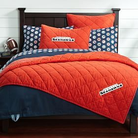Nfl Chenille Patch Sham Orange Quilted Sham Beds For